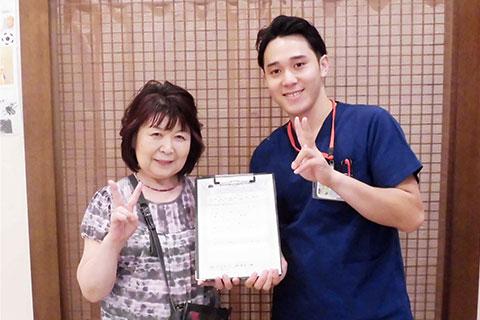 前田様 71歳女性(肩こり、猫背)
